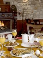 Ontbijt in het hotel Porfyron in Zagoria