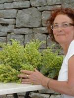 Rita, het verzorgen van de Griekse berg thee ze net opgehaald uit de bergen van Pindus rond de Zagori