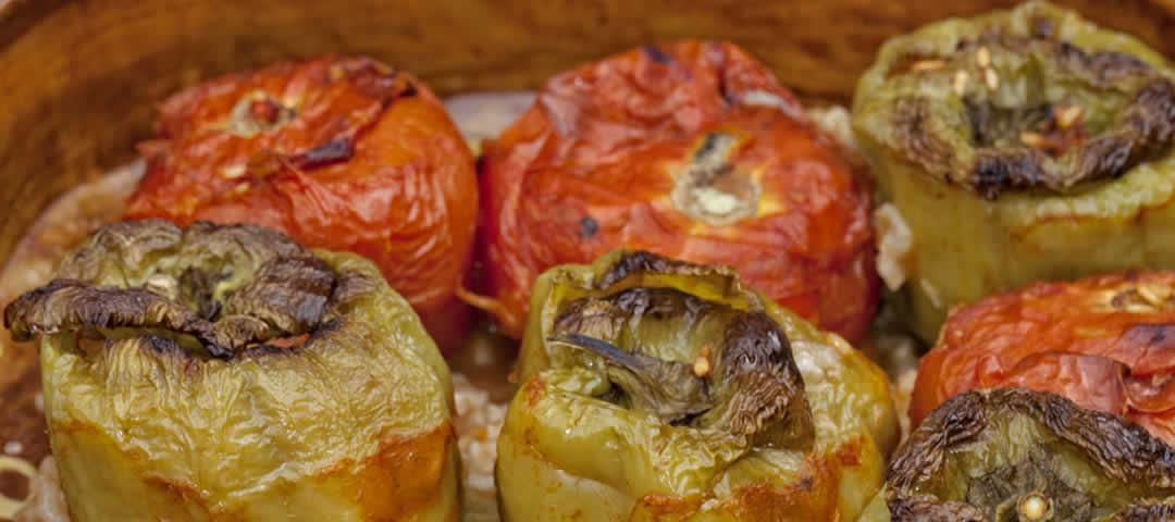 Gevulde tomaten en paprika's - Gemista